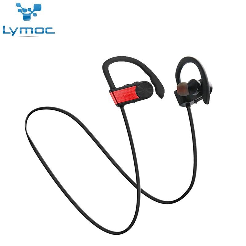 LYMOC Bluetooth Earphone Wireless Headsets Sport Running Hi-Fi Sound Noise Isolation Headphones Fone De Ouvido for iPhone X / 8 lexin 2pcs max2 motorcycle bluetooth helmet intercommunicador wireless bt moto waterproof interphone intercom headsets