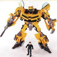 アニメ18センチ·トランスフォーメーション·ロボットおもちゃフィギュア黄色車サムロボットbrinquedosクラシックjuguetes子供おもちゃ高品