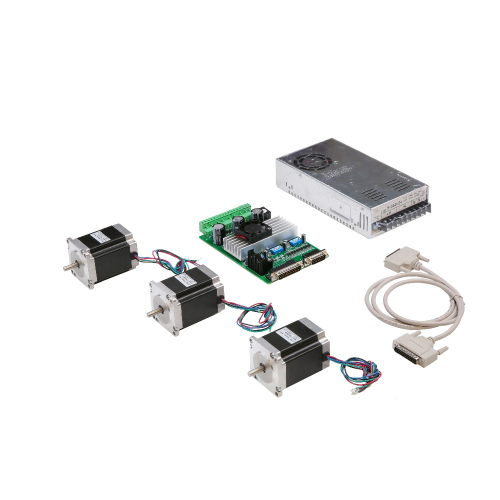 цена на Hot Sell! Wantai CNC Nema 23 Stepper Motor 57BYGH603 1A 290oz-in+3 Axis Driver Board TB6560 Foam Laser Mill Engraver Kit
