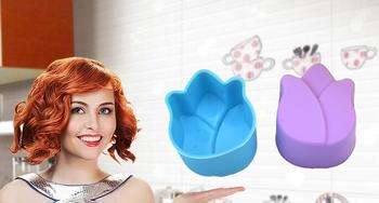 New Arrive Mini 3cm Silicone Cupcake liner Tulip Flower Cake Chocolate Cake Muffin Liners Pudding Jelly Baking Cup Mold
