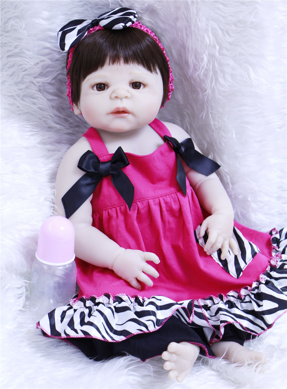 22 Lifelike bebe alive reborn bonecas real full body silicone vinyl Reborn Baby girl Doll with clothes Pacifier bottle NPK22 Lifelike bebe alive reborn bonecas real full body silicone vinyl Reborn Baby girl Doll with clothes Pacifier bottle NPK