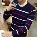 TG6127  Cheap wholesale 2016 new Round collar striped sweater and wool warm sweater han edition cultivate one's morality