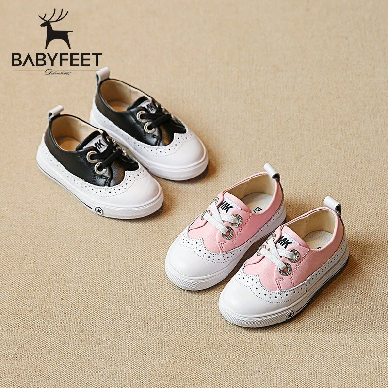 2017 Babyfeet children sneakers 1-3 years old Child baby boy and baby girl infant kids punched Leather Shoes Flat Toddler shoes babyfeet newborn baby boy shoes toddler sandals leather non slip kids shoes 0 1 years old boy girl children infant infantile