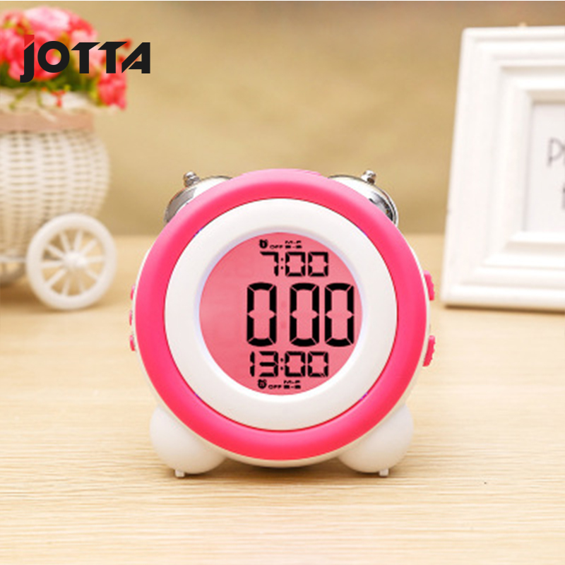 Simple stereo led alarm clock mute luminous electronic double two sets