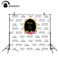Allenjoy photography backdrop vinyl Black white time wedding custom romantic love sweet celebration personal customize backdrop