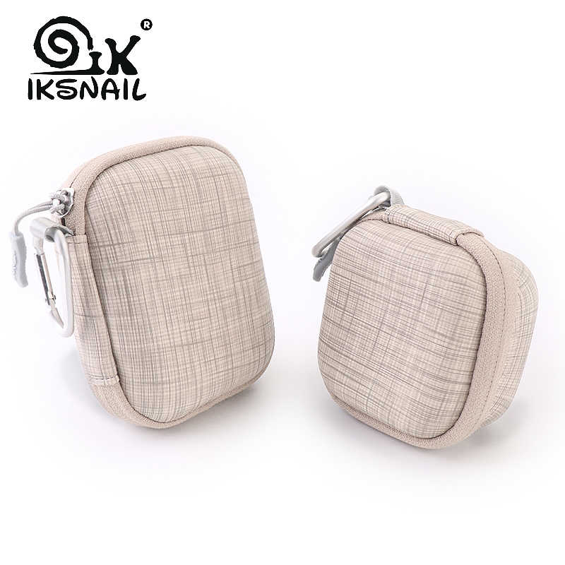 IKSNAIL Portable Earphone Case For Apple Airpods Bags Zippered Storage Hard Bag Headset Box For Headphones SD Cards Accessories
