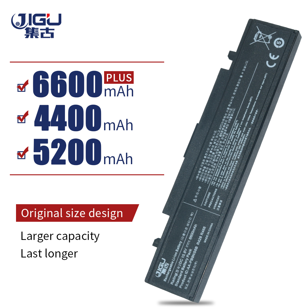 JIGU 6 תאי שחור מחשב נייד סוללה AA-PB9NS6B AA-PB9NC6B עבור Samsung R418 R420 NP300E NP-Q470 NP300E NP-Q470 300E4A-A02 NP-300V