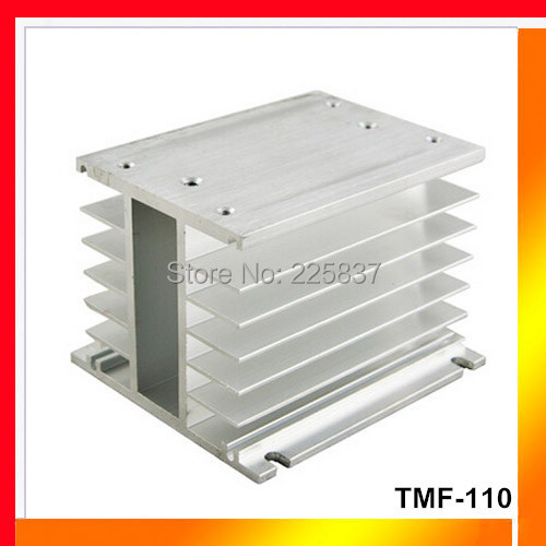 цена на Free shipping TMF-110 aluminum alloy heat sink radiator  for 20 -100A SSR three phase solid state relay  H type heat dissipation