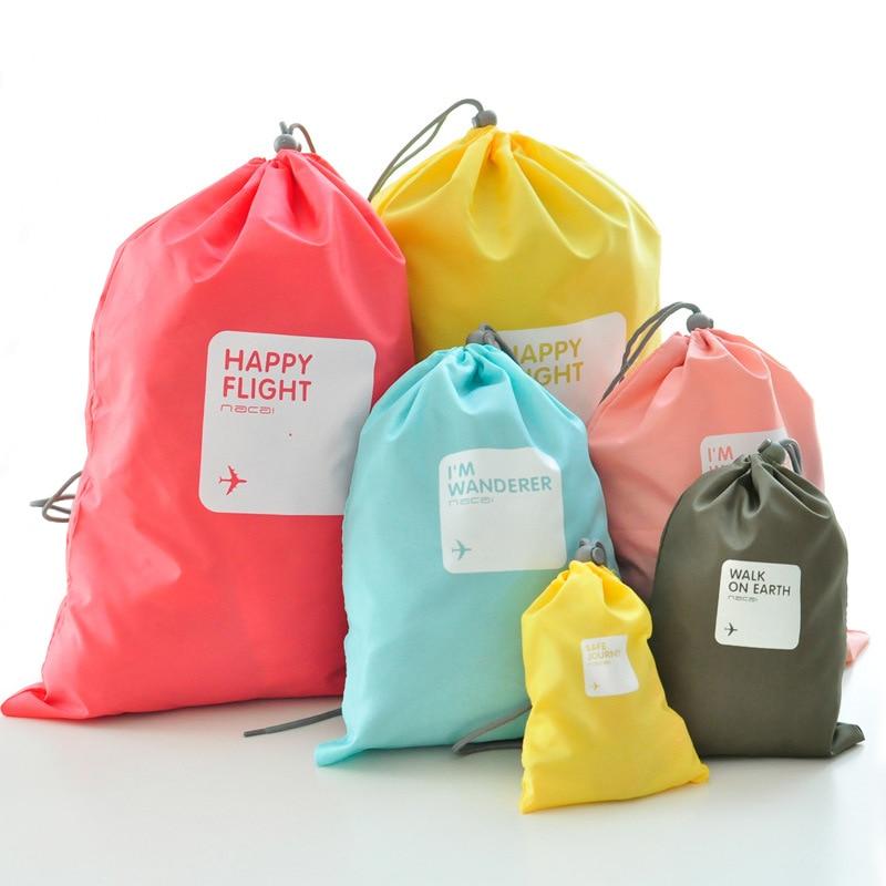4pcs lot Waterproof Travel Storage font b Bag b font Cosmetic Underwear Organizer Sports font b