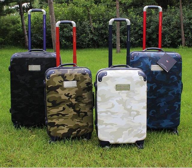 """21 """" 25 """" 29 """" распродажа! 45% от Hardside ручной клади на счетчик чемодан прокатки багаж камуфляж"""
