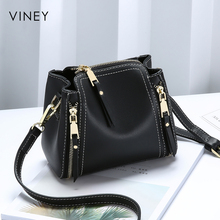 Girl 2019 New Genuine Leather Baggage ins Mini Baggage Personality Korean Version Baitao Slant Single Shoulder Bag