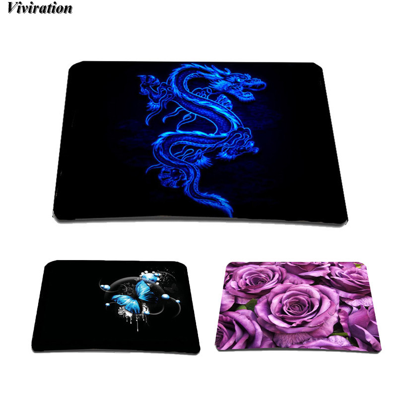 Viviration Popular Cool Dragon Printing Gaming Mouse Pad 210 mm X 180 mm Fashion Latest Rubber Computer Mousepad For Mens Boys ...