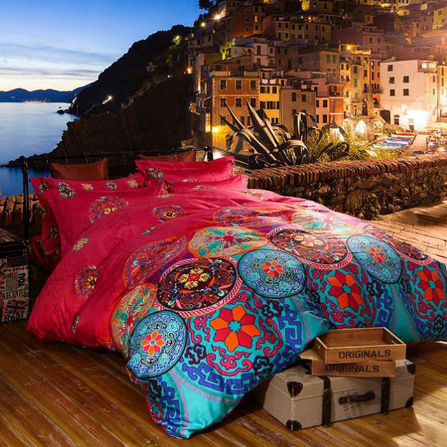 Luxury Boho Bedding Sets Queen King Size Bedclothes Bohemian Duvet Cover Set Bedsheet