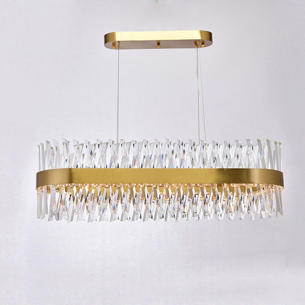 Design de luxo moderno lustre de cristal LEVOU luz AC110V 220 V lustre de cristal sala de jantar sala de estar lâmpada