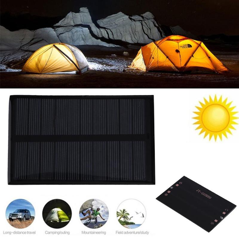 5V 1.2W 240mA Solar Panel Cell DIY Polycrystalline Silicon China Module DIY Solar System Cells Battery Charger