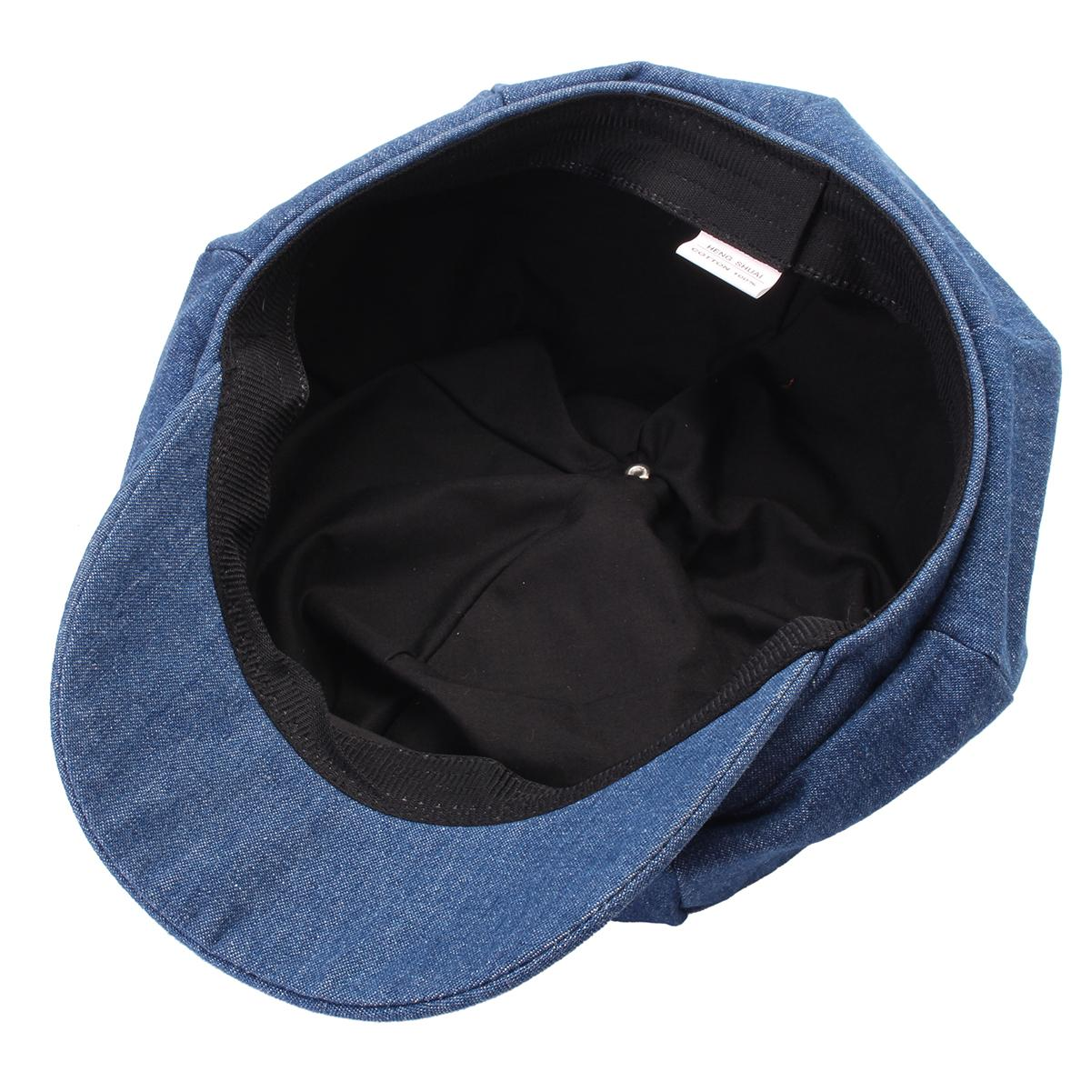 55bf00d3 Denim Newsboy Hats Washed Octagonal Cap Beret Hat For Women Sun Hat Ladies  Summer Spring Retro Flat Caps Driving Hats Berets-in Newsboy Caps from  Apparel ...