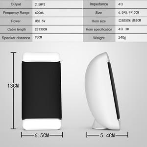 Image 5 - 2 stück Wired Computer Lautsprecher USB + AUX Mini PC Lautsprecher für Laptop Desktop Telefon 5W Audio Multimedia Lautsprecher