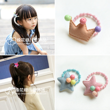 Girls Crown Star Elastic Hair Bands Princess Ponytail Holder Gum For Scrunchies Headband Rubber Band Kids Accessories