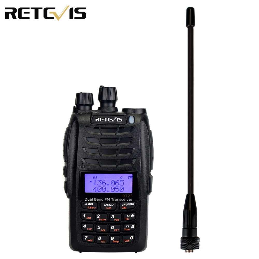 Retevis RT23 Walkie Talkie Cross-Band Repeater Uhf + Vhf 136-174 + 400-480Mhz Dual ptt Dual Ontvangen 1750Hz 1600 Mah Ham Radio A9122A