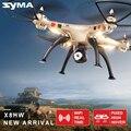Syma x8hw fpv rc drone con cámara hd wifi compartir en tiempo real 2.4g 4ch 6-axis quadcopter con flotando función de la nueva llegada