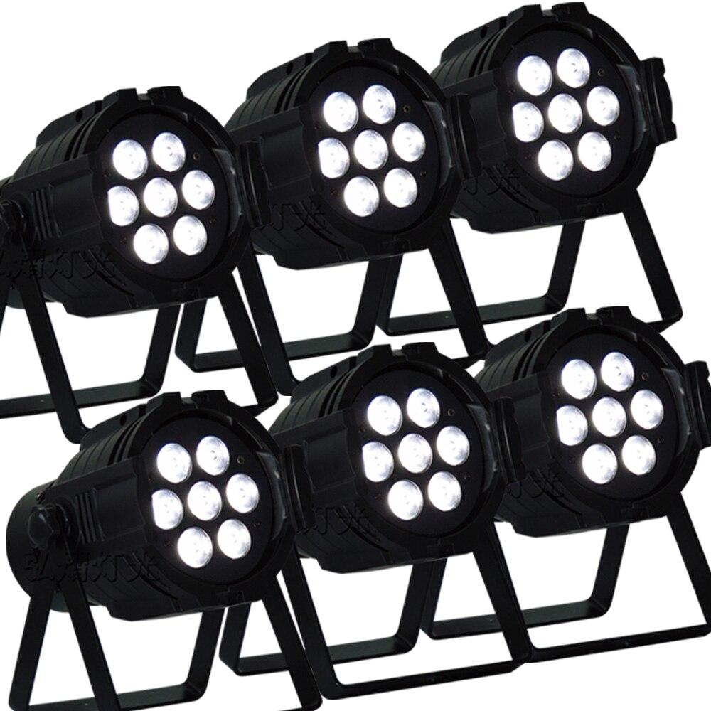 6pcs/lot good quality led par quad 7x12w wash dmx par light american dj par rgbw 4in1 dmx led par light led lamp