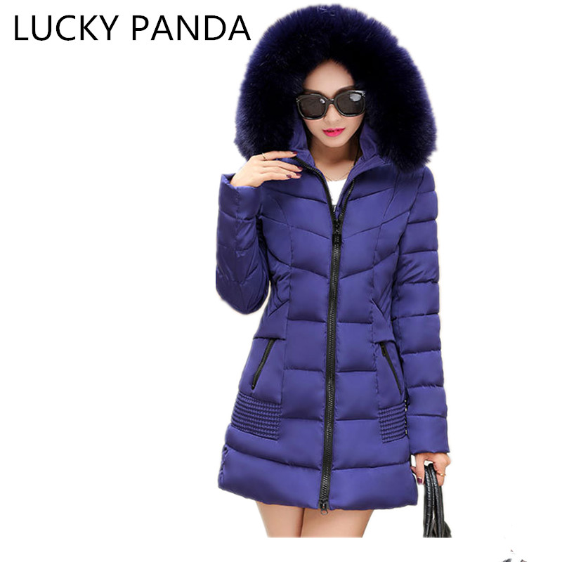 LUCKY PANDA 2016 WOMAN Super luxury winter women's fur collar thickening in the long slim slim warm down cotton LKB193 lucky panda 2016 the new winter coat and female slim in the long and small lattice fragrant cotton lkp243