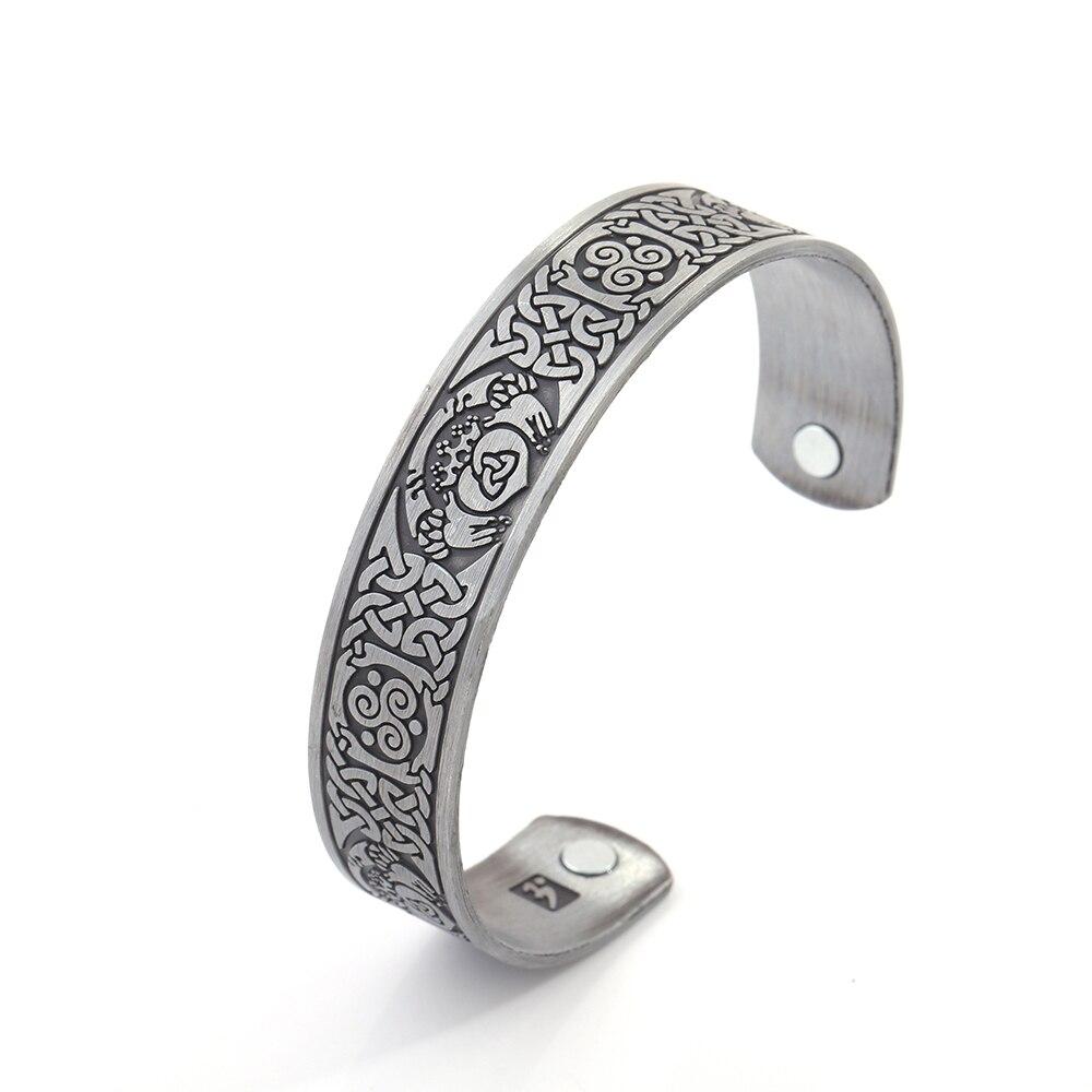 Моя Форма Магнитный браслет здоровья женщина питания Винтаж человек манжета Wiccan тотем узор чудо Для женщин терапии индийские украшения