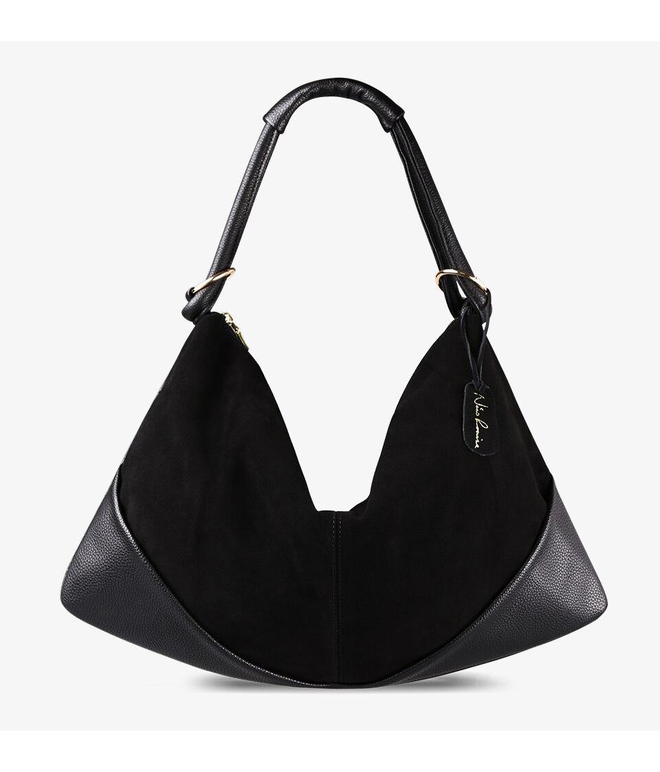 Bolsas femininas couro de camurça real bolsa