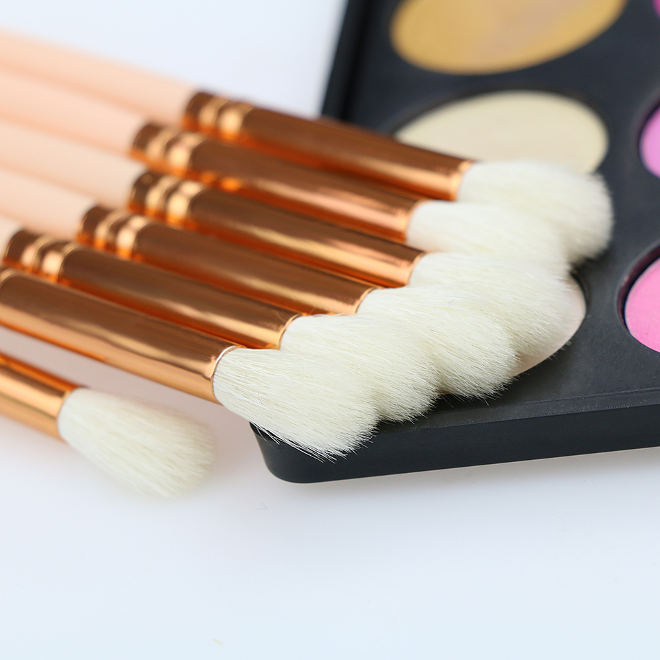 BEILI 228 # 100% Gedehår Øjenskygge Crease Makeup Brush Rose Golden - Makeup - Foto 3