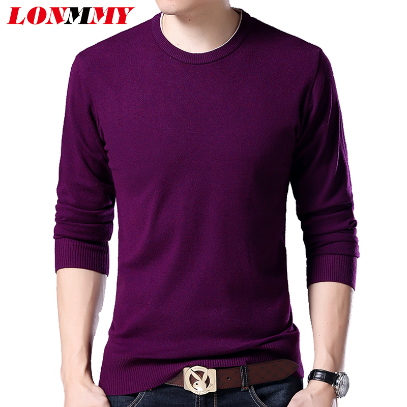 LONMMY 6XL 7XL 8XL Long Mens Sweaters Straight Casual Mens Pullover O Neck Loose Christmas Sweater Men 2018 Winter Pull Homme