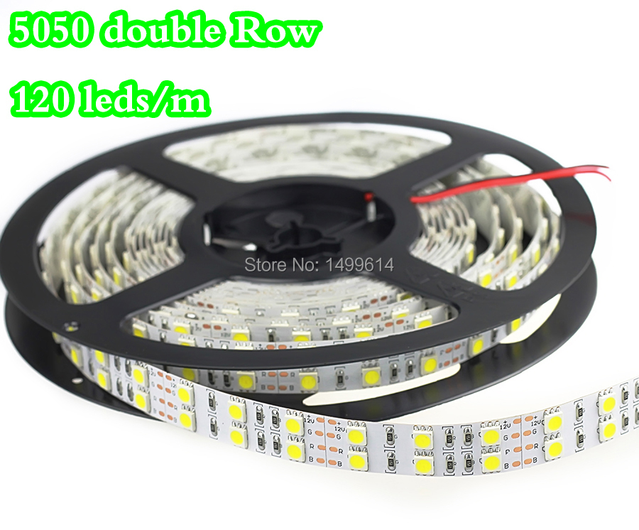 RGB led strip lights 5050 SMD Non-waterproof double Row 12V 5m 120leds/m Home KTV Bar Holiday Decro LED Tape Lamp strip lighting