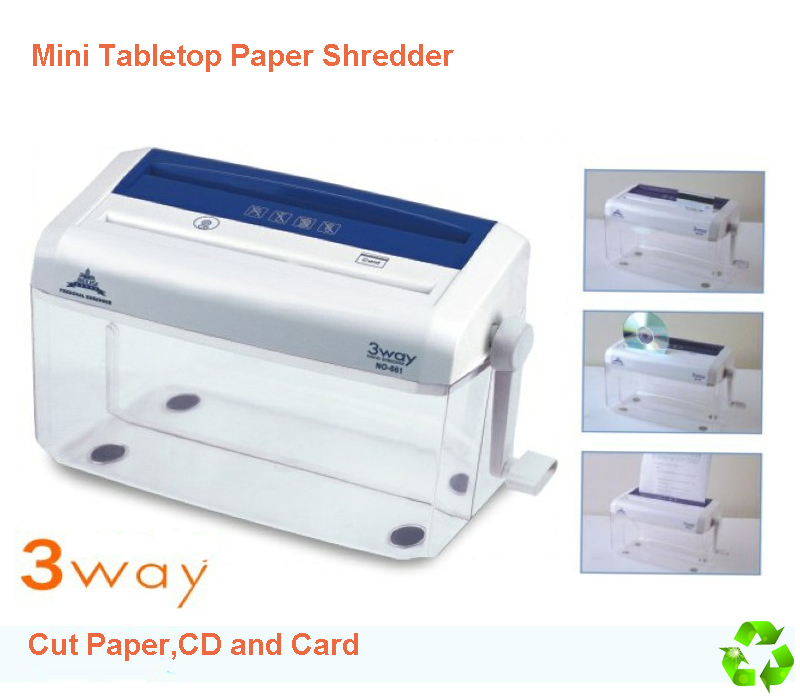 Tabletop A4 Size Paper Shredder Handle Office Desktop Cd Card Cutter Ter For Home In From Computer