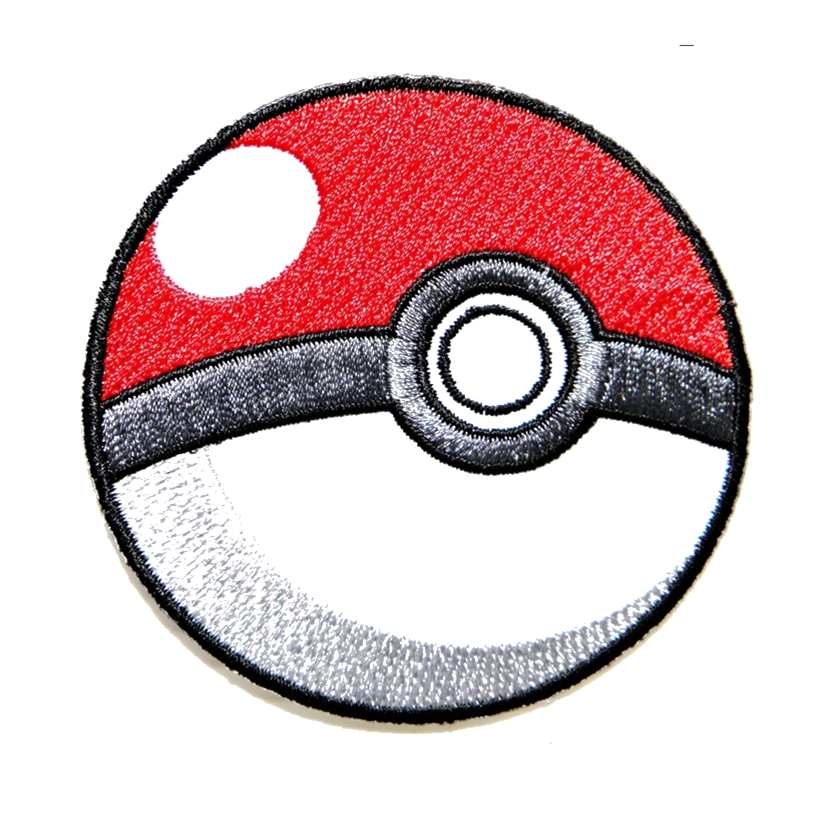 Pokeball Pokemon Cartoon Game Logo Girl Kid Baby Jacket T shirt Patch Sew Iron on Embroidered Symbol Badge Cloth Sign Costume circle