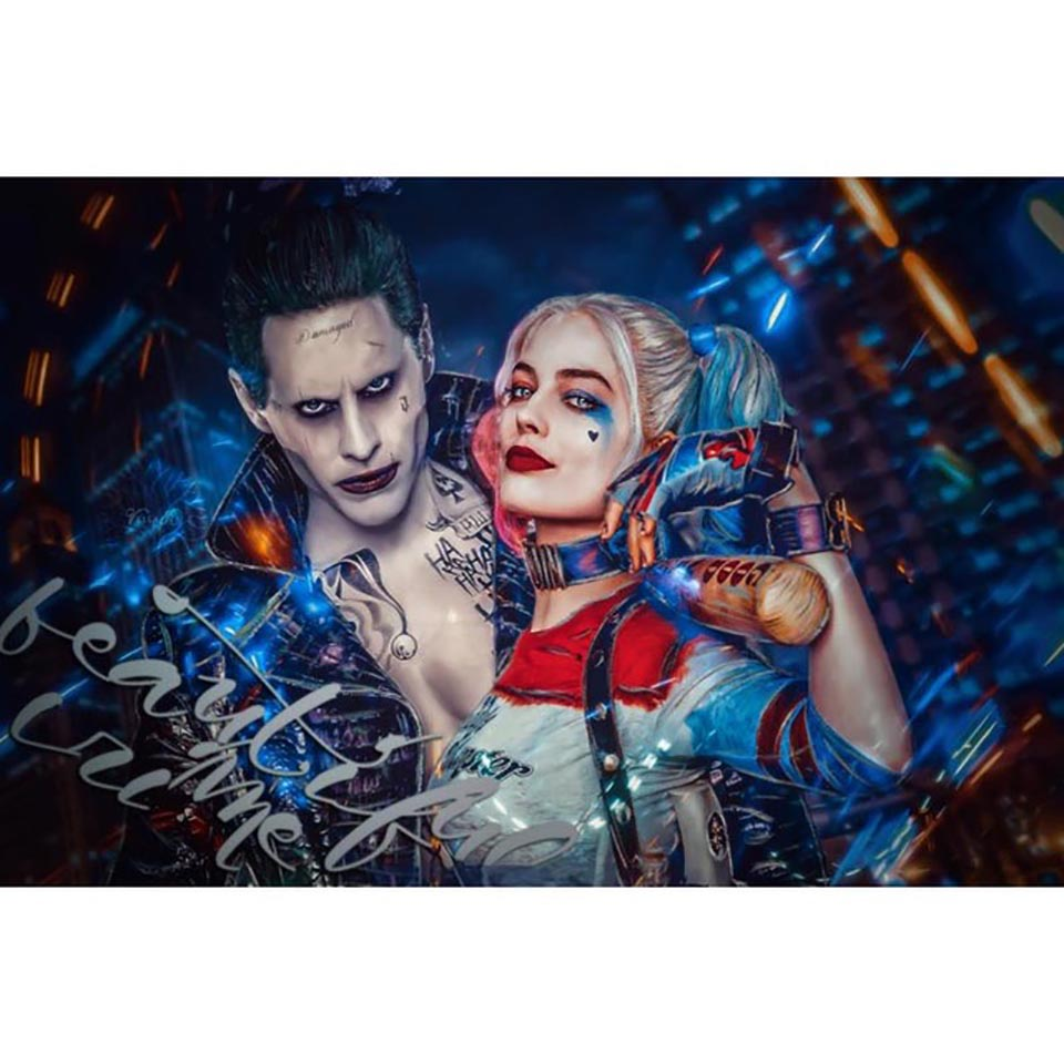 5d Embroidery DIY Diamond Wall Art Suicide Squad Movie Painting Cross Stitch Picture Full Square Drill Handmade Home Decoration image