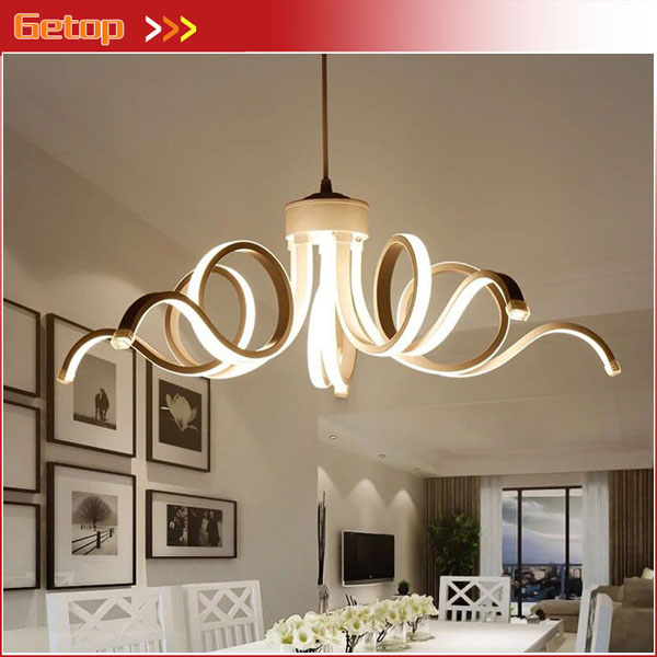 Modern Led Pendant Lights Aluminium For Living Room Pendant lamps Indoor Fixture Pendant Lighting Acrylic Hanging Lighting fashional black white pendant lamps good looking hanging lights for indoor decoration for dinning room living room rest room