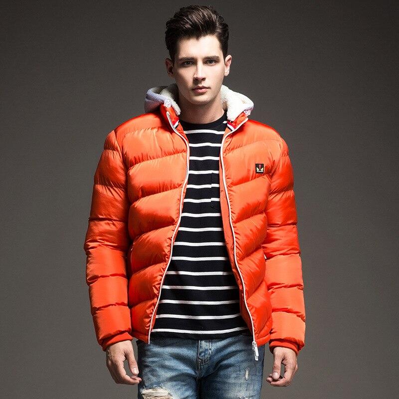 ФОТО 2016 Men Winter Coats Men's Cotton Outerwear Large Size M-3XL Super Warm Hooded Design Man Thick Jacket