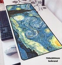 فان جوخ مسند الماوس 70x30 سنتيمتر لوحة إلى ماوس نوت بوك الكمبيوتر ماوس خريطة العالم لوحة ماوس للألعاب لوحة المفاتيح فأرة كمبيوتر محمول حصيرة