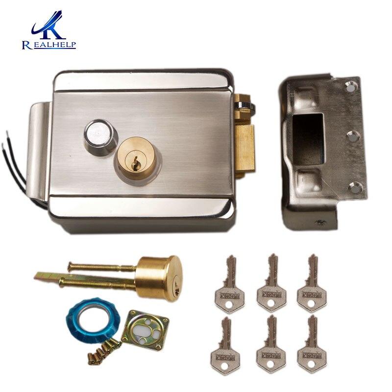 Access Entry Security System Wired Electric door Lock DC12V Motor Video Intercom Doorbell Door Control