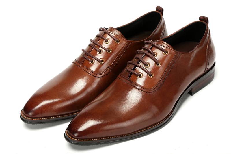 cd8dc79c6585 2015 Italian fashion casual style genuine leather men dress shoes men brown  casual dress shoes mens shoes oxford size 6 10 ox353-in Women s Flats from  Shoes ...