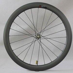 Image 2 - Dysk węglowy koła filar 1423 mówił Novatec D411/D412 piasty 6 śruby lub centralny zamek Cyclocross koła żwiru zestaw kół rowerowych