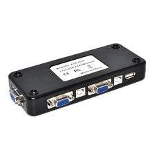 Centechia 4 ports Hub USB 2.0 KVM VGA/SVGA adaptateur de boîtier de commutation connecte imprimante clavier souris 4 ordinateurs utiliser 1 moniteur