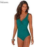 One Piece Swimsuit 2016 Swimwear Women Push Up Bodysuit Plus Size Beach Wear High Cut Bathing
