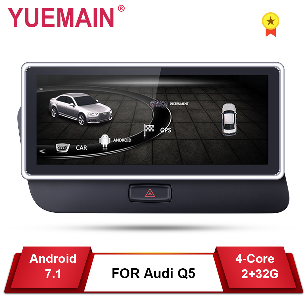 Car DVD GPS Player For Audi Q5 2009 2017 Android 7.1 Auto
