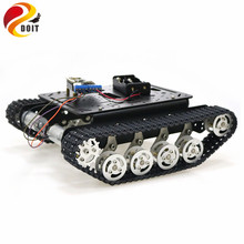 ESP8266 RC Smart Robot Tank Chassis with Dual DC Motor+ Nodemcu Development Board+L293D Motor Driver Board for DIY Project TS100 metal tank chassis all metal structure big size load large obstacle surmounting for robot project the engineering prototype