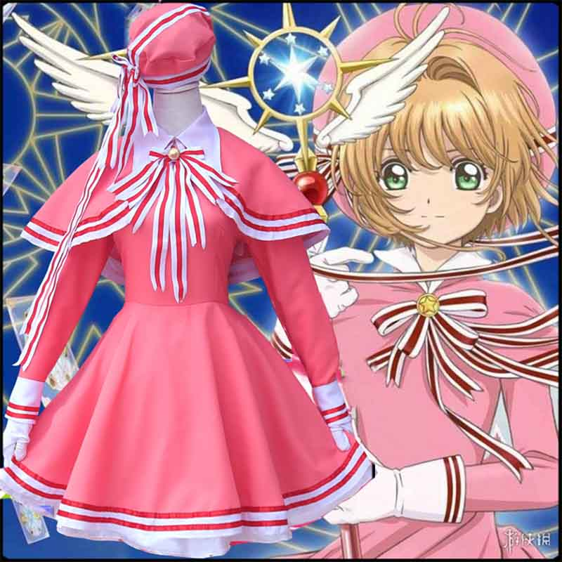 Cardcaptor Card Captor Sakura Clear Cards Kinomoto Sakura Dress Cosplay Costume
