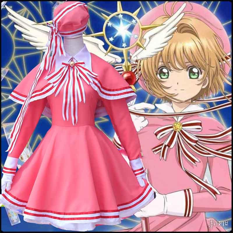 Cardcaptor Card Captor Sakura Clear Cards Kinomoto Sakura Dress Cosplay Costume