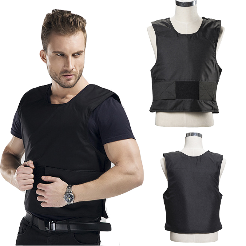 New 1 Layer Stab Resistant Vest Lightweight Soft For Police Use O Neck Covert Schutzweste Tatico