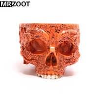 MRZOOT ゴシックパンクスカル彫刻植木鉢樹脂工芸家の装飾
