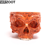 MRZOOT Gothic Punk Skull Sculpture Flower Pot Resin Crafts Home Decoration,Halloween Festival Party Decoration or Holiday Gifts