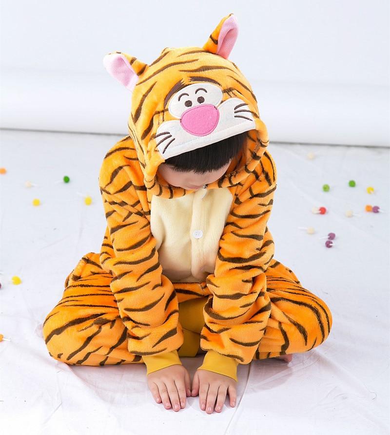 Uşaqlar üçün Tiger Kigurumi Uşaqlar Onesie Pijama Cosplay - Karnaval kostyumlar - Fotoqrafiya 3